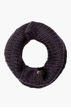 ROBERT GELLER Charcoal Knit zippered Snood for men