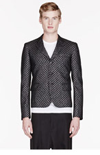 COMME DES GARÇONS HOMME PLUS BLACK Metallic HOUNDSTOOTH blazer for men