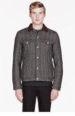 JUNYA WATANABE Black & Brown Wool Herringbone Levis Edition jacket for men