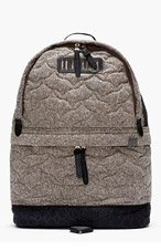 WHITE MOUNTAINEERING Brown Melange Quilted Jazz Backpack for men