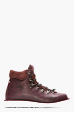 DIEMME Dark Burgundy Brushed Leather Roccia Vet Boots for men
