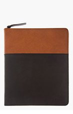 GIVENCHY Black & Brown Leather iPad Case for men
