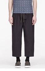 SASQUATCHFABRIX WAshed black BONDING WIDE Trousers for men