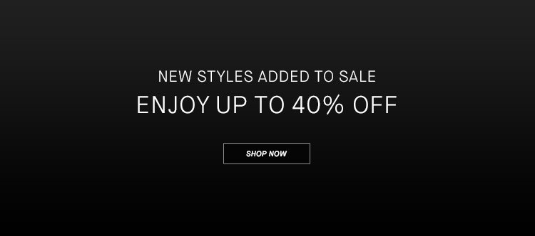 Enjoy Up To 40% Off