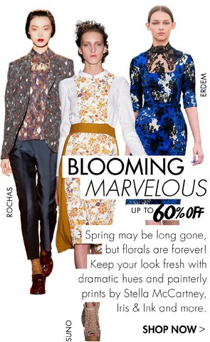 BLOOMING MARVELOUS! WINTER FLORALS UP TO 60% OFF