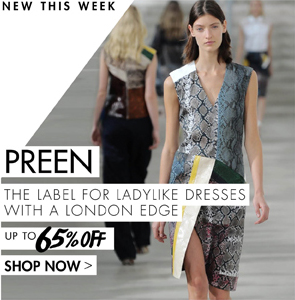 PREEN UP TO 65% OFF