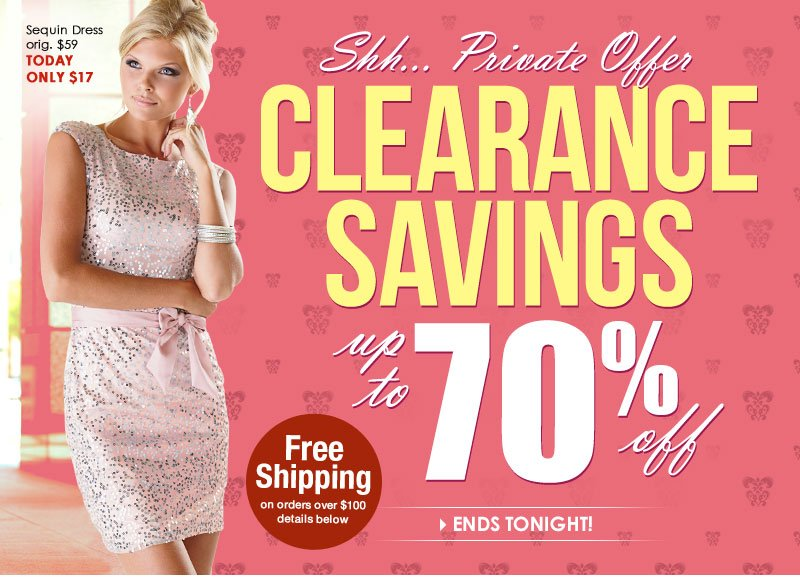 Up to 70% off! Private Sale just for VIP's Only!