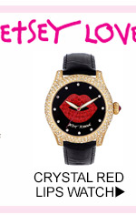 Shop Crystal Red Lips Watch