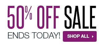 50% off Sale ends today! Shop all.