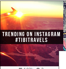 Trending on Instagram: #TibiTravels