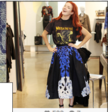 Shop the Tibi Rococo Skirt as worn by Jane from Sea of Shoes