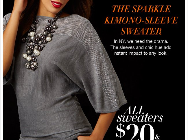 Save $100 + all sweaters are on sale!
