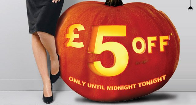 £5 OFF - only until midnight tonight