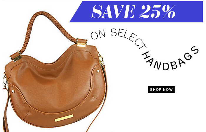 Save 25% on select handbags. Shop Now.
