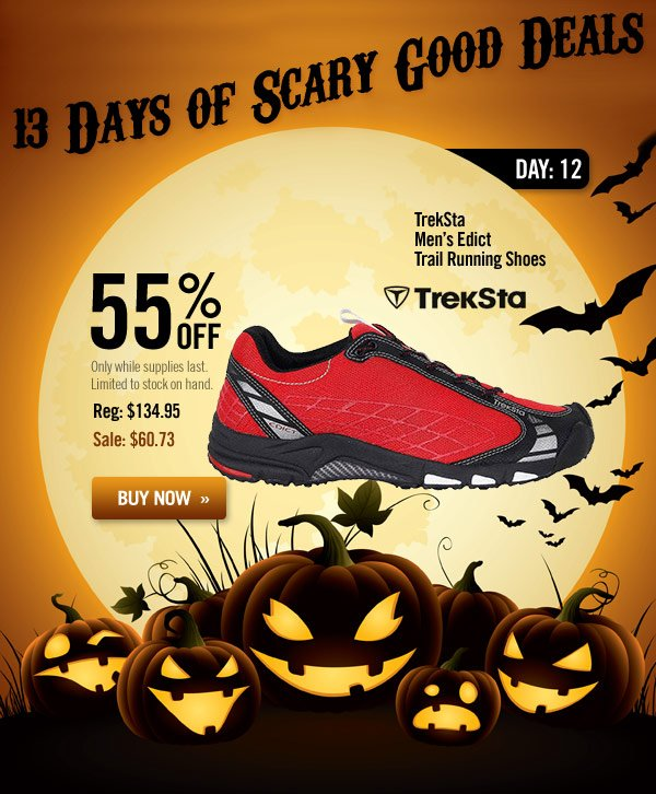 13 Days of Scary Good Deals - Day 12: TrekSta Men's Edict Trail Running Shoes