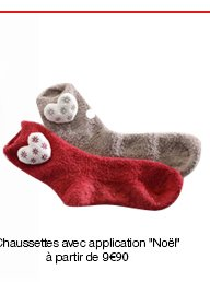 "Chaussettes avec application ""Noël"", Thermolactyl."