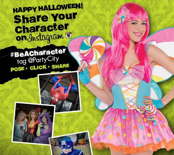 HAPPY HALLOWEEN! Share Your Character on Instagram.