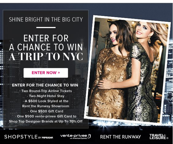 Enter for a chance to win a trip to NYC