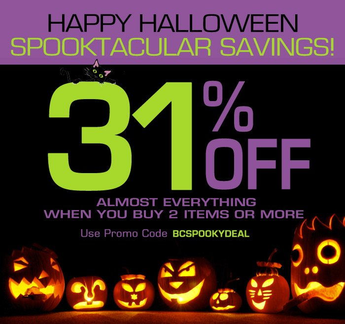 Happy Halloween Spooktacular Savings