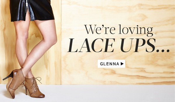 We're loving lace ups... Shop Glenna