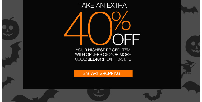 Take an extra 40% off your highest priced item with orders of 2 or more
