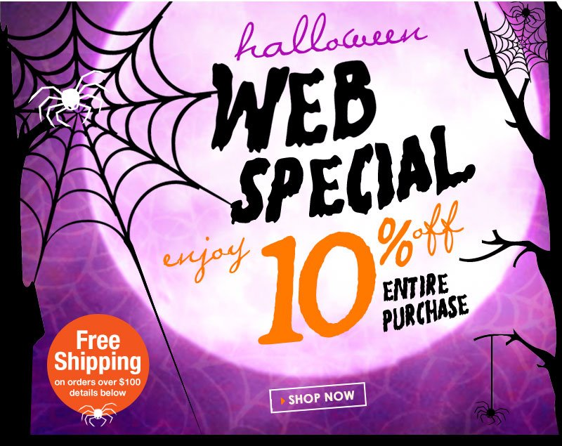 EXTRA 10% off everything (SALE and CLEARANCE too), today only! No Trick, Our Treat!