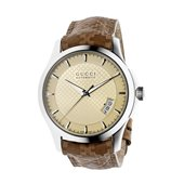 G-Timeless M Watch Auto, Ivory/Steel/Brown