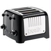 Gloss Toaster 4-Slices, Black 220V