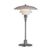 PH 2/1 Table Lamp, Glass/high lustre chrome plated