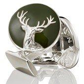 The Hunter Cuff Links Dear Silver, Green