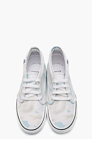 KENZO White cloud print Vans Edition Chukka Sneakers for women