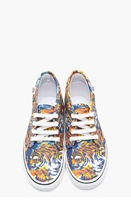 KENZO Orange flying Tiger Print Vans Edition Chukka Sneakers for women