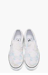 KENZO White Cloud Print Vans Edition Slip-ons for women