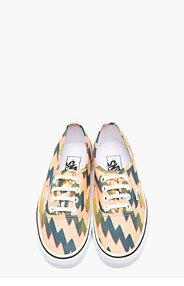 KENZO Orange Canvas Vans Edition Thunder Sneakers for women