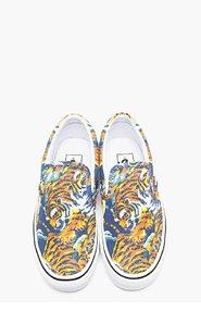 KENZO Orange Flying Tiger Print Vans Edition Slip Ons for women