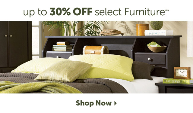 up to 30% off select Furniture - shop now