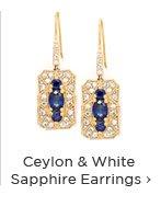 Ceylon & White Sapphire Earrings