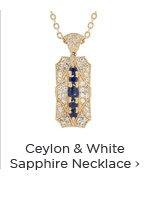 Golden Beryl & White Sapphire Necklace