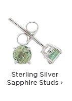 Sterling Silver Sapphire Earrings