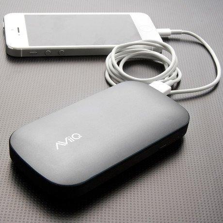 AViiQ Power Bank // 4,600mAh Dual USB // Grey