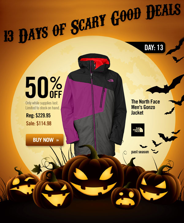 13 Days of Scary Good Deals - Day 13: The North Face Men's Gonzo Jacket - past-season