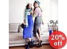 Slit-Back Knit Jumper Skirt