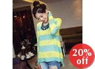 Loose-Fit Striped Knit Top