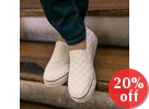 Stitched Platform Slip-Ons
