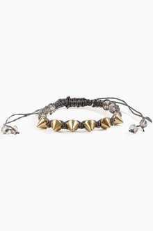 BRAID AND SPIKE BRACELET 7
