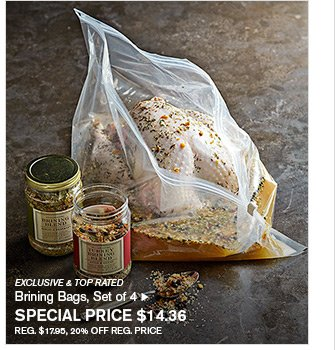 EXCLUSIVE & TOP RATED - Brining Bags, Set of 4 - SPECIAL PRICE $14.36 - REG. $17.95, 20% OFF REG. PRICE