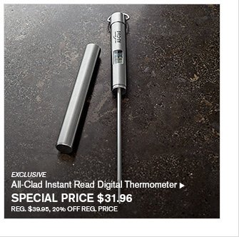 EXCLUSIVE - All-Clad Instant Read Digital Thermometer - SPECIAL PRICE $31.96 - REG. $39.95, 20% OFF REG. PRICE