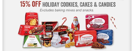 15% off Holiday Cookies, Cakes & Candies - Join Now to Use Coupon