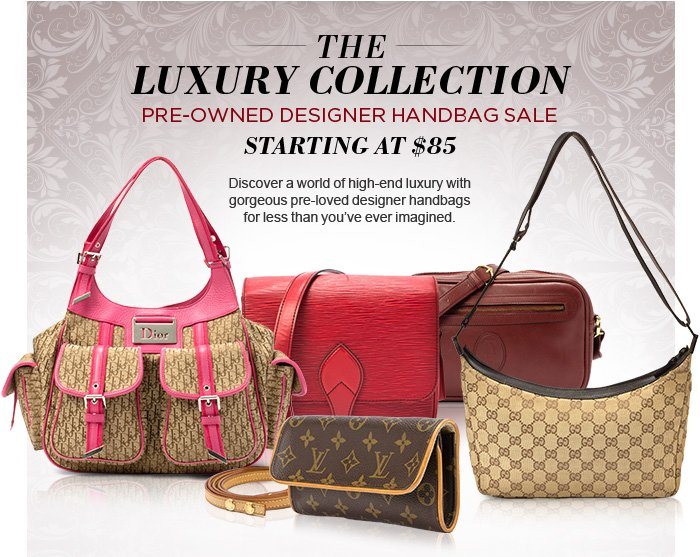 Luxury at Your Side: Pre-Owned Designer Handbag Sale. Discover a world of high-end luxury with gorgeous pre-loved designer handbags for less than you've ever imagined. They're trendy, timeless, and ready for the fall and winter fashion scenes – don't miss your chance to own the finest couture accessories!