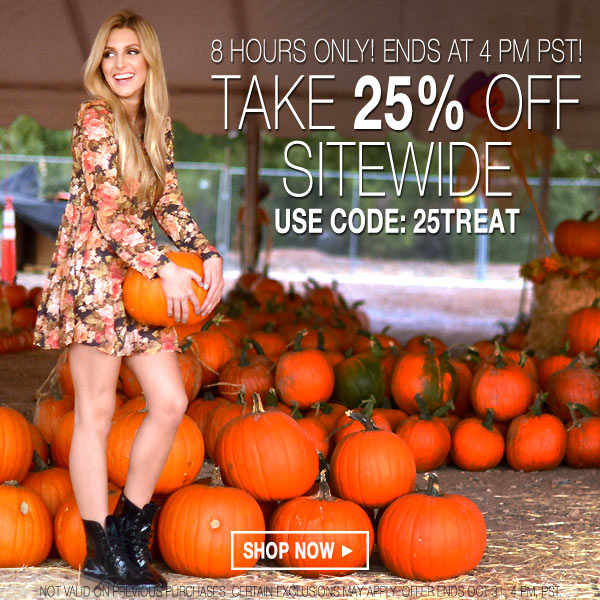 Take 25% off sitewide today only! Ends at 4 pm PST.
